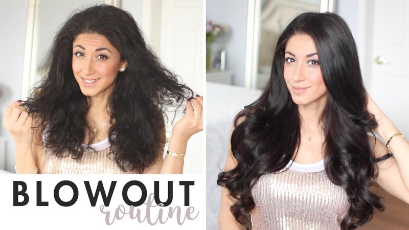 Frizzy Hair Blowout Routine + How To Blend Hair Extensions ...